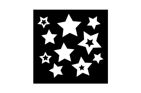 Stars Stencil Cut File Download