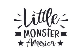 Little Monster America Independence Day Craft Cut File By Creative Fabrica Crafts