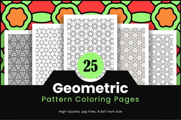 Print on Demand: 25 Geometric Coloring Pattern Pages Graphic Coloring Pages & Books Adults By Riduwan Molla