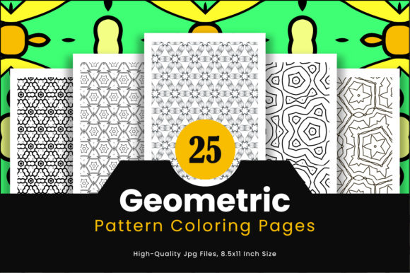 Print on Demand: 25 Geometric Pattern Pages Graphic Coloring Pages & Books Adults By Riduwan Molla