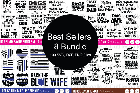 8 Best Sellers Bundle Graphic Crafts By cutfilesgallery