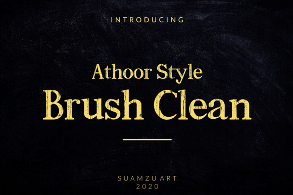 Print on Demand: Athoor Style Brush Clean Display Font By suamzu.art