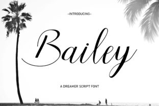Print on Demand: Bailey Script & Handwritten Font By Hisoka Studio