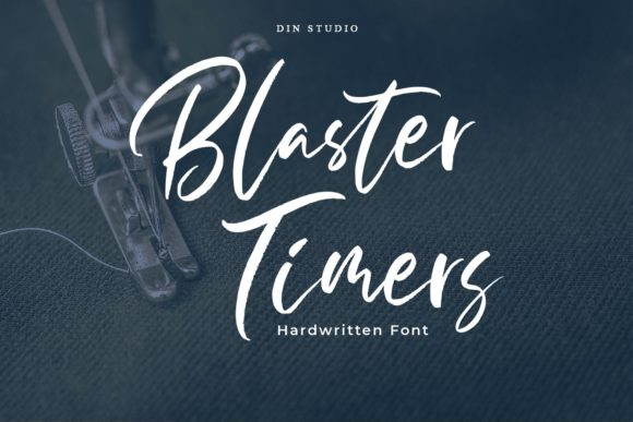 Print on Demand: Blaster Timers Script & Handwritten Font By Din Studio