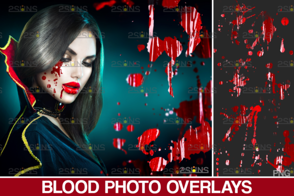Blood Splatter Photoshop Overlay V6 Graphic Actions & Presets By 2SUNS