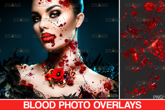 Blood Splatter Photoshop Overlay V7 Graphic Actions & Presets By 2SUNS