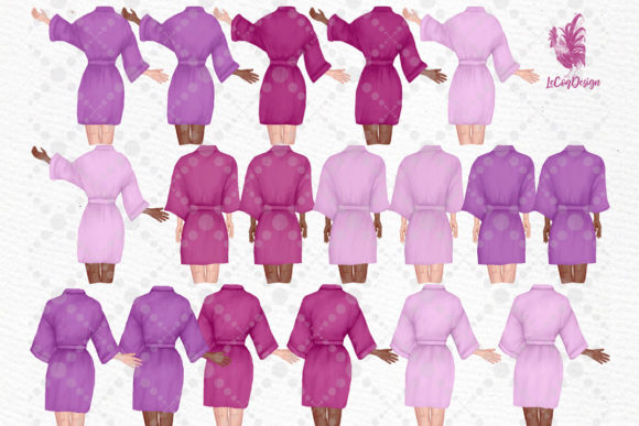 Bridesmaid Robes Clipart Team Bride   Graphic Download