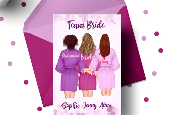 Bridesmaid Robes Clipart Team Bride   Graphic Preview