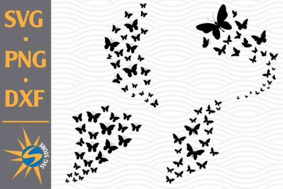 Print on Demand: Butterfly Flying Graphic Crafts By SVGStoreShop