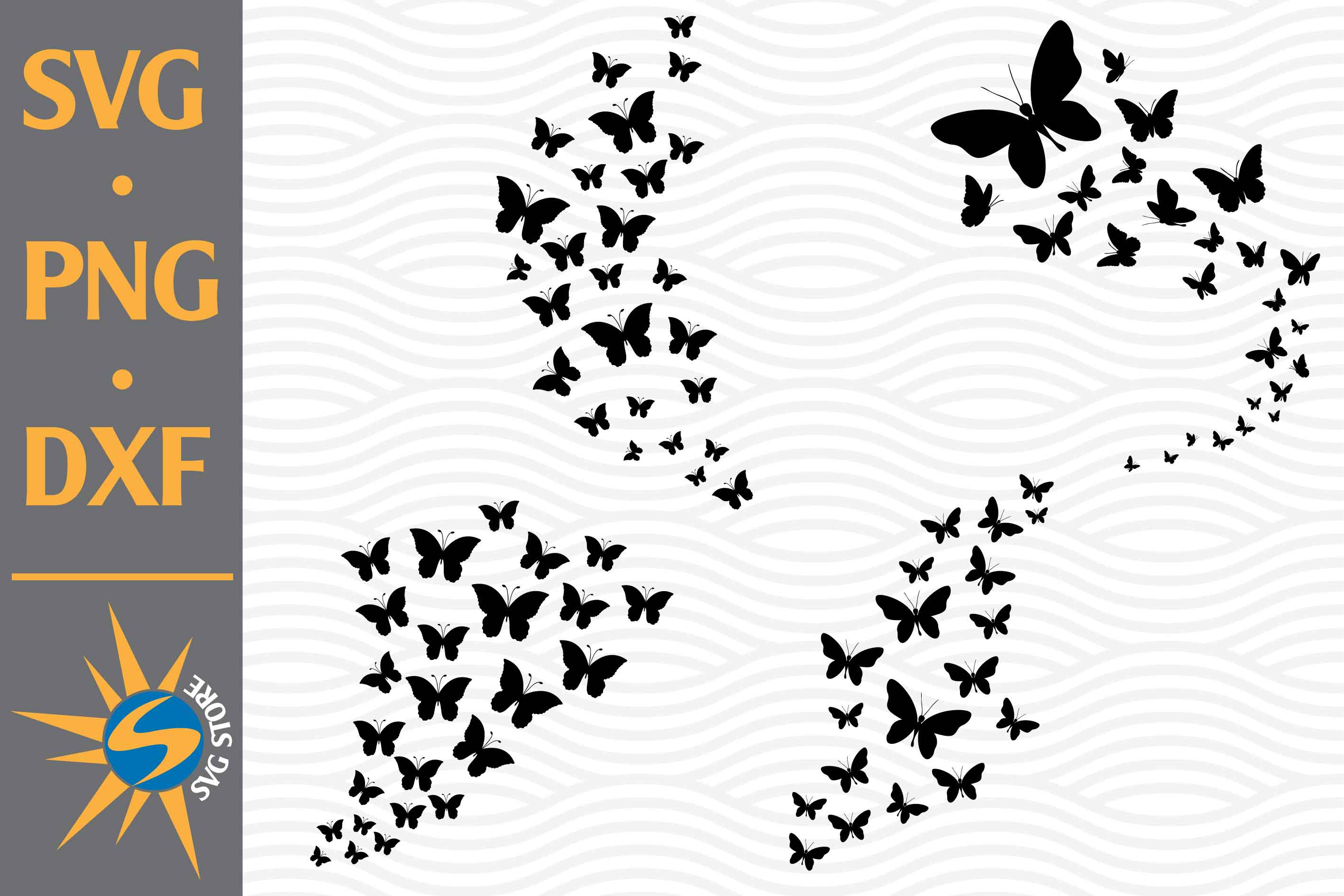 Butterfly Flying SVG File