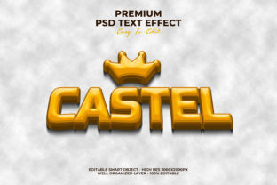 Castel Text Style Effect Graphic Layer Styles By Evloxx