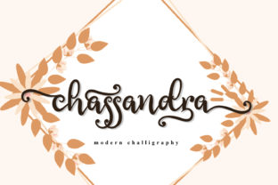 Print on Demand: Chassandra Script & Handwritten Font By niyos.studio