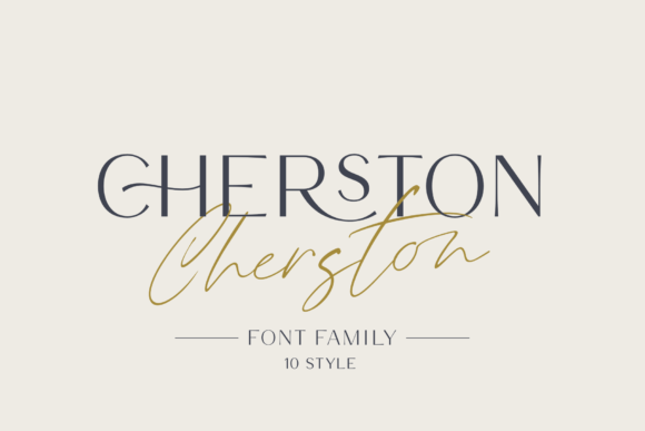 Print on Demand: Cherston Display Font By Pasha Larin