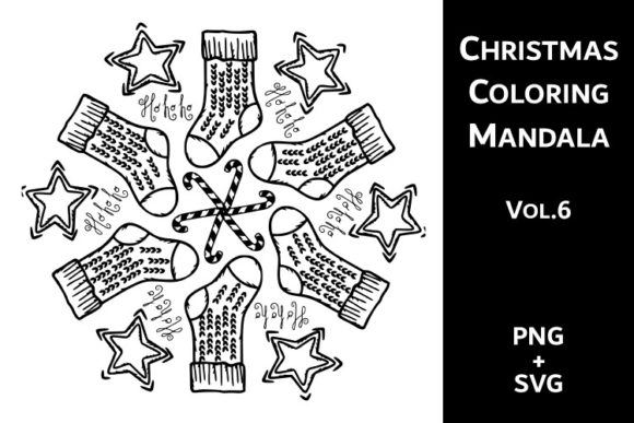 Print on Demand: Christmas Coloring Mandala Vol.6 Graphic Coloring Pages & Books Adults By Fleur de Tango