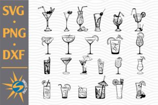 Print on Demand: Coctail Outline Graphic Crafts By SVGStoreShop