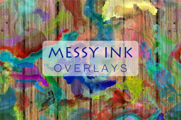 Print on Demand: Creative Messy Ink Watercolor Overlays Graphic Textures By Prawny