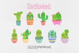 Print on Demand: Cute Cactus Clipart Graphic Illustrations By DigitalPapers 2