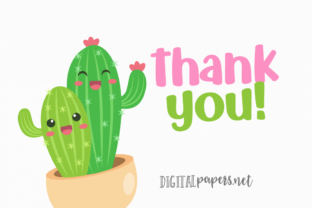 Print on Demand: Cute Cactus Clipart Graphic Illustrations By DigitalPapers 3
