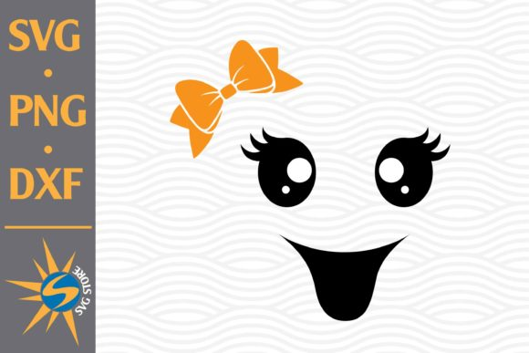 Print on Demand: Cute Ghost Face Graphic Crafts By SVGStoreShop