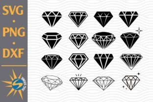 Print on Demand: Diamond Silhouettes Graphic Crafts By SVGStoreShop