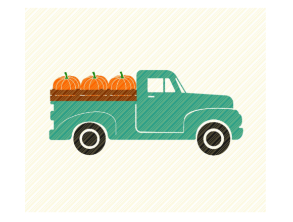 Print on Demand: Fall Truck Pumpkins Thanksgiving Graphic Crafts By SVGPlaceDesign