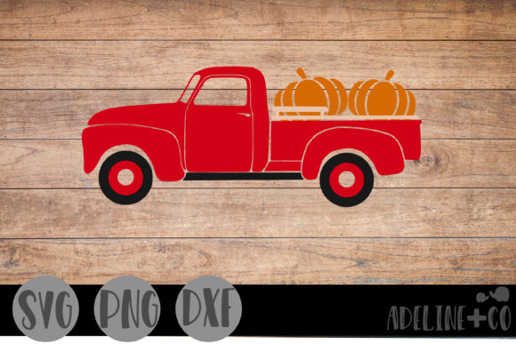Farm Truck, Fall Edition Graphic Crafts By adelinenco