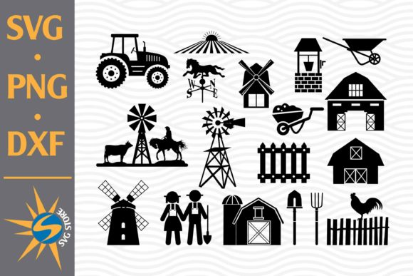 Print on Demand: Farming Silhouette Graphic Crafts By SVGStoreShop