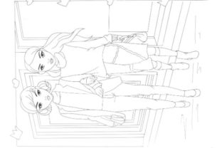 Fashion Coloring Pages Pack Graphic Coloring Pages & Books Kids By POD  4