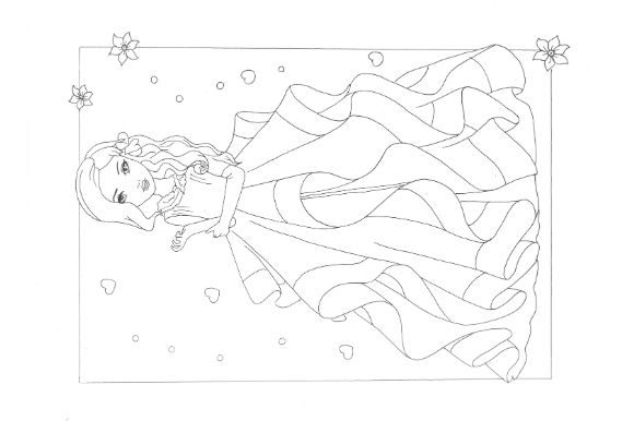 Fashion Coloring Pages Pack Graphic Design Item