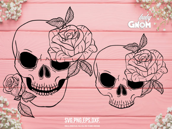 Floral Skull   Graphic Crafts By babyGnom