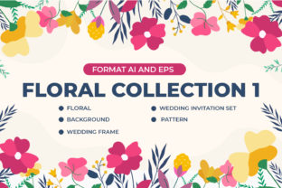 Floral Collection 1 Graphic Illustrations By OKEVECTOR
