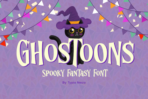 Print on Demand: Ghostoons Display Font By Typia Nesia