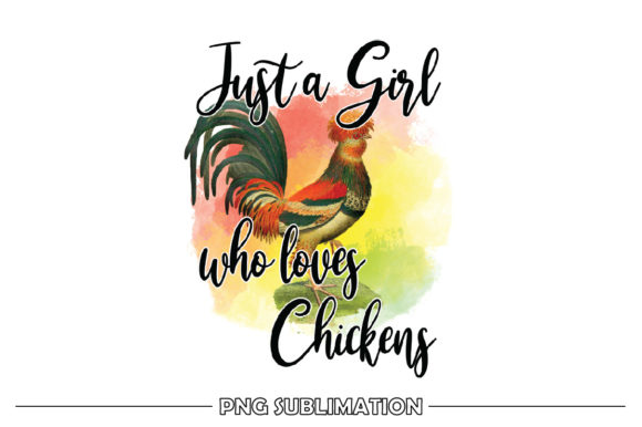 Print on Demand: Girl Who Loves Chickens Sublimation Graphic Crafts By FauzIDEAStudio