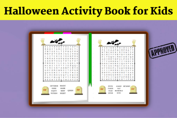 Halloween Activity Book( KDP Interiors ) Graphic KDP Interiors By Wiss_Tips designs - Image 2
