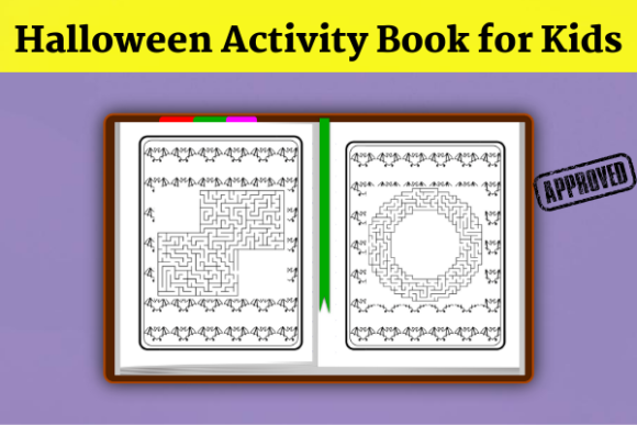 Halloween Activity Book( KDP Interiors ) Graphic KDP Interiors By Wiss_Tips designs - Image 4