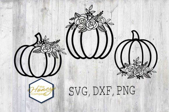 Hand Drawn Floral Pumpkin Bundle Graphic Crafts By The Honey Company