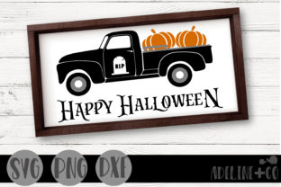 Happy Halloween Truck Graphic Crafts By adelinenco