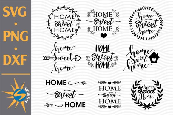 Print on Demand: Home Sweet Home Bundle Graphic Crafts By SVGStoreShop