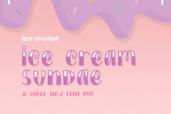 Print on Demand: Ice Cream Sundae Display Font By Salt & Pepper Designs
