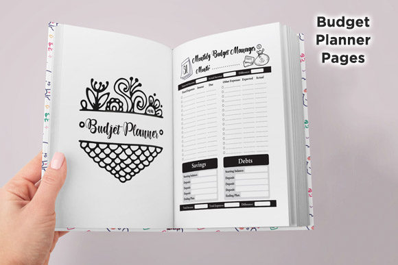 Print on Demand: KDP Savings Budget & Bills Planner Graphic KDP Interiors By Queen Dreams Store - Image 2
