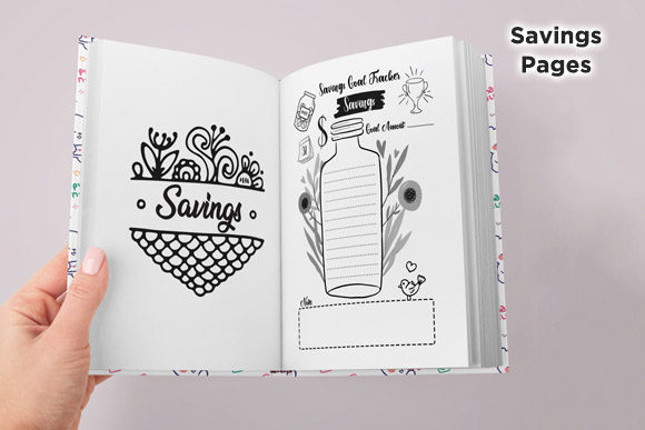 Print on Demand: KDP Savings Budget & Bills Planner Graphic KDP Interiors By Queen Dreams Store - Image 3