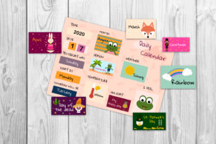 Kids Calendar, Kids Morning Board Graphic Teaching Materials By Igraphic Studio