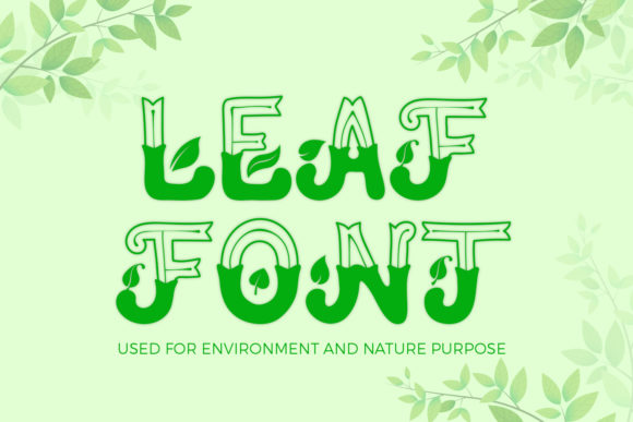 Print on Demand: Leaf Display Font By OWPictures