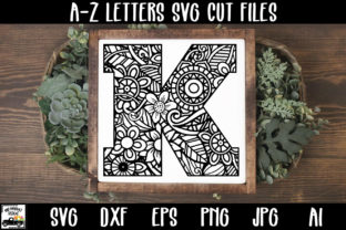 Print on Demand: Mandala Monogram Alphabet Bundle Graphic Crafts By oldmarketdesigns