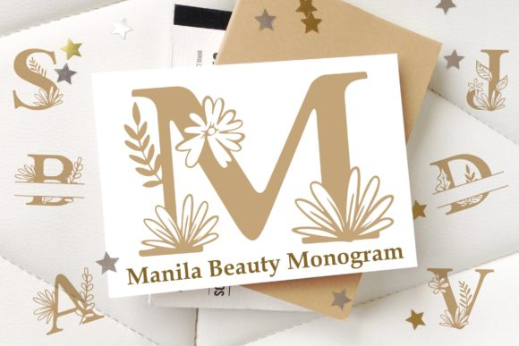 Print on Demand: Manila Beauty Monogram Decorative Font By Lettersiro Co.