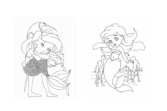 Mermaid Coloring Pack | Part 1 Graphic Coloring Pages & Books Kids By POD