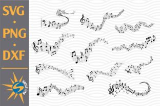 Print on Demand: Music Note Silhouette Graphic Crafts By SVGStoreShop