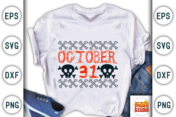 Print on Demand: October 31 Graphic Print Templates By CraftStudio
