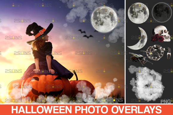 Photoshop Overlay Halloween Clipart V12 Graphic Actions & Presets By 2SUNS