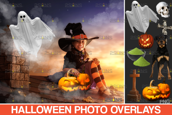 Photoshop Overlay Halloween Clipart V14 Graphic Actions & Presets By 2SUNS